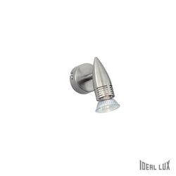 Lampada da parete Applique Ideal Lux Alfa AP1 NICKEL 009377