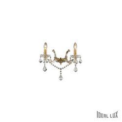 Lampada da parete Applique Ideal Lux Florian AP2 ORO 035659