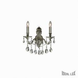 Lampada da parete Applique Ideal Lux Gioconda AP2 ARGENTO 044910