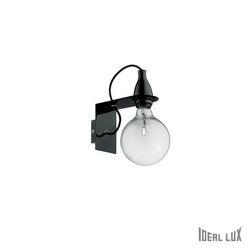 Lampada da parete Applique Ideal Lux Minimal AP1 NERO 045214