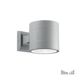 Lampada da esterno Applique Ideal Lux Snif AP1 ROUND GRIGIO 061474