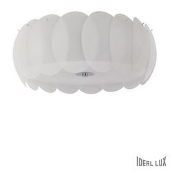 Plafoniera Ideal Lux Ovalino PL8 BIANCO 094014
