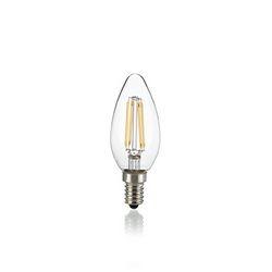 Confezione da 10 Lampadine Led Ideal Lux CLASSIC E14 4W OLIVA TRASP 3000K 101224
