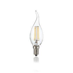 Confezione da 10 Lampadine Led Ideal Lux CLASSIC E14 4W COLPO VENTO TRASP 3000K 101248