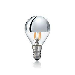 Confezione da 10 Lampadine Led Ideal Lux CLASSIC E14 4W SFERA CROMO 3000K 101262