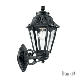 Lampada da esterno Applique Ideal Lux Anna AP1 BIG NERO 101491