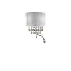Lampada da parete Applique Ideal Lux Opera AP3 ARGENTO 122588