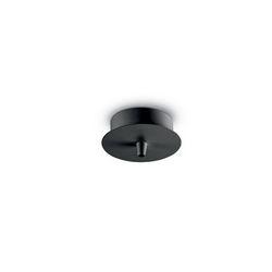 Rosone a luce singola Ideal Lux Cup MSP1 NERO 123295