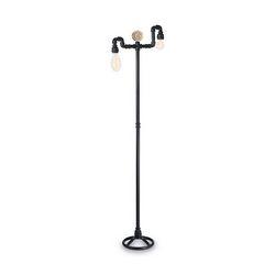 Lampada da terra Ideal Lux Plumber PT2 NERO 136721