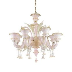 Lampadario sospensione Ideal Lux Antonietta SP8 ROSA 137278