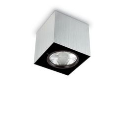 Plafoniera Ideal Lux Mood PL1 BIG SQUARE ALLUMINIO 140957