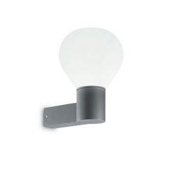 Lampada da parete Applique Ideal Lux Clio AP1 GRIGIO 146638