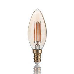 Confezione da 10 Lampadine Led Ideal Lux VINTAGE E14 4W OLIVA 2200K 151649