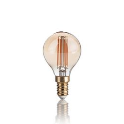 Confezione da 10 Lampadine Led Ideal Lux VINTAGE E14 4W SFERA 2200K 151656