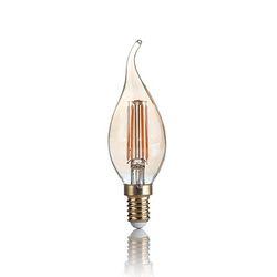 Confezione da 10 Lampadine Led Ideal Lux VINTAGE E14 4W COLPO DI VENTO 2200K 151663