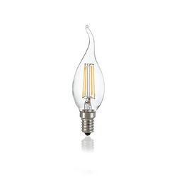Confezione da 10 Lampadine Led Ideal Lux CLASSIC E14 4W COLPO VENTO TRASP 4000K 153940