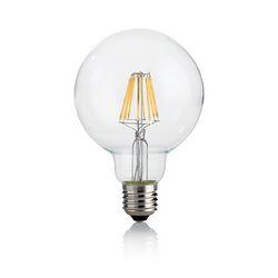 Confezione da 10 Lampadine Led Ideal Lux CLASSIC E27 8W GLOBO D95 TRASP 4000K 153971