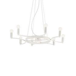 Lampadario sospensione Ideal Lux Space SP8 BIANCO 165073