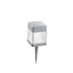 Lampada da terra Ideal Lux Elisa PT1 SMALL GRIGIO 187914