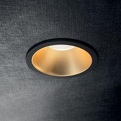 Faretto da incasso Led Game round black gold Ideal Lux 192345