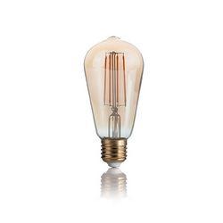Confezione da 10 Lampadine Led Ideal Lux VINTAGE E27 4W GLOBO BIG FUM 204468