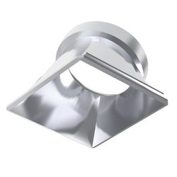 Dynamic Reflector Square Slope Chrome Ideal Lux 221670