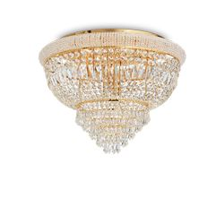 Plafoniera Ideal Lux Dubai Pl24 Ottone 243498