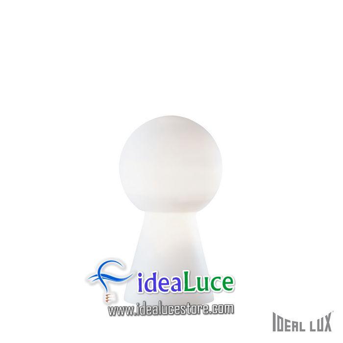 Lampada da tavolo Ideal Lux Birillo TL1 MEDIUM BIANCO 000251