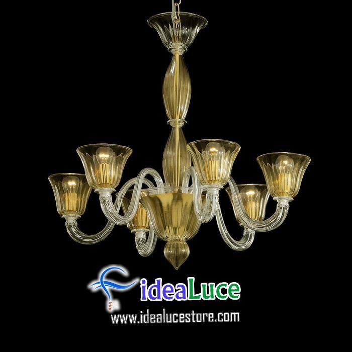 Lampadario sospensione Ideal Lux Ca FOSCARI SP6 005843
