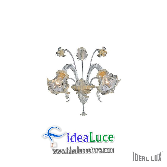 Lampada da parete Applique Ideal Lux Rialto AP2 007953