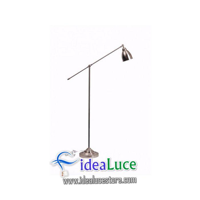 Lampada da terra Ideal Lux Newton PT1 NICKEL 015286
