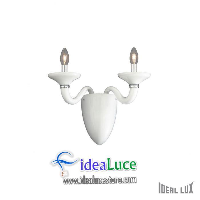 Lampada da parete Applique Ideal Lux White LADY AP2 BIANCO 019376
