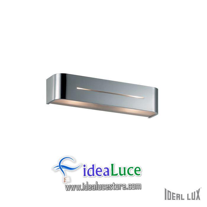 Lampada da parete Applique Ideal Lux Posta AP2 CROMO 051932