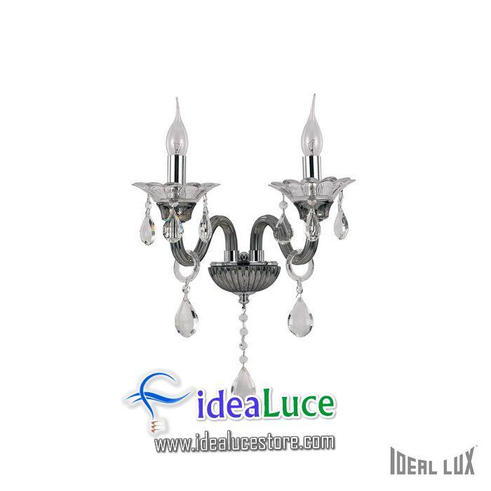 Lampada da parete Applique Ideal Lux Colossal AP2 GRIGIO 081496