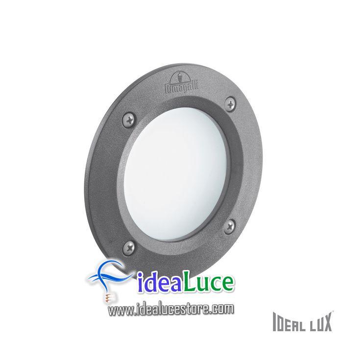 Faretto da incasso per esterno Ideal Lux Leti ROUND FI1 GRIGIO 096568