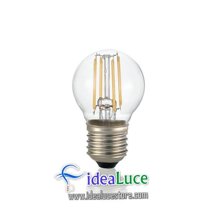 Confezione da 10 Lampadine Led Ideal Lux CLASSIC E27 4W SFERA TRASP 3000K 101279