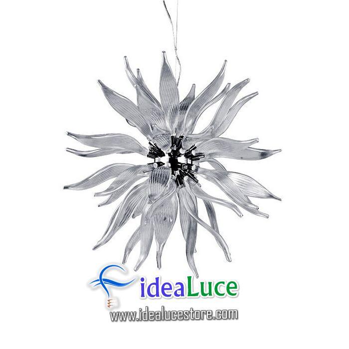 Lampadario sospensione Ideal Lux Leaves SP12 FUME 112251