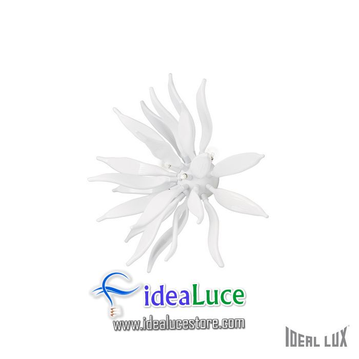 Plafoniera Ideal Lux Leaves PL6 BIANCO 112299