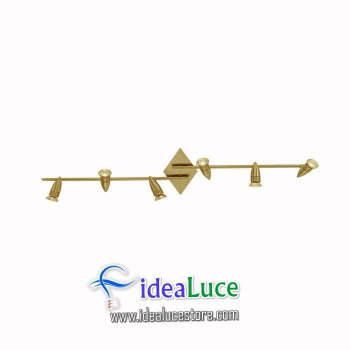 Plafoniera Ideal Lux Alfa PB6 BRUNITO 119908