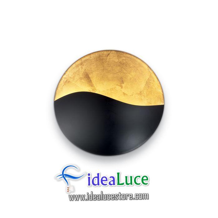 Lampada da parete Applique Ideal Lux Sunrise AP3 NERO E ORO 133270
