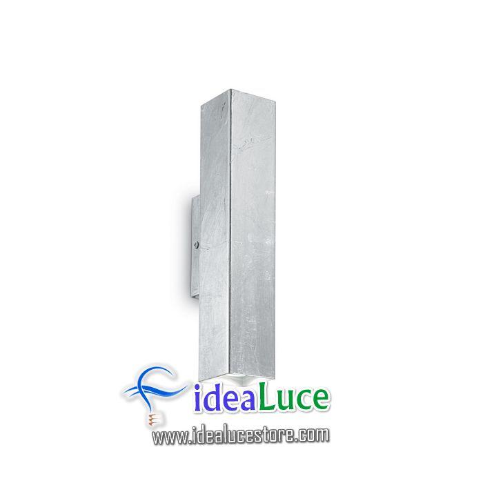 Lampada da parete Applique Ideal Lux Sky AP2 ARGENTO 136882