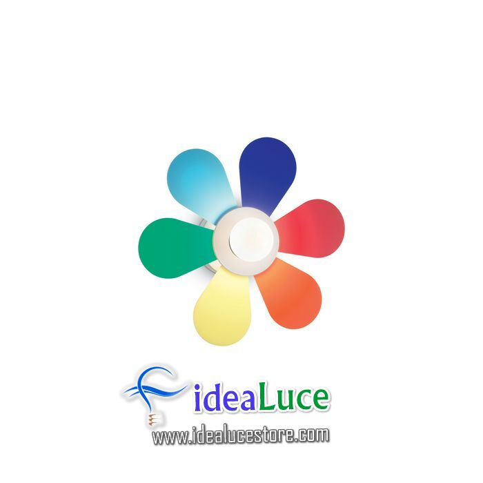 Lampada da parete Applique Ideal Lux Flower AP1 D30 141329