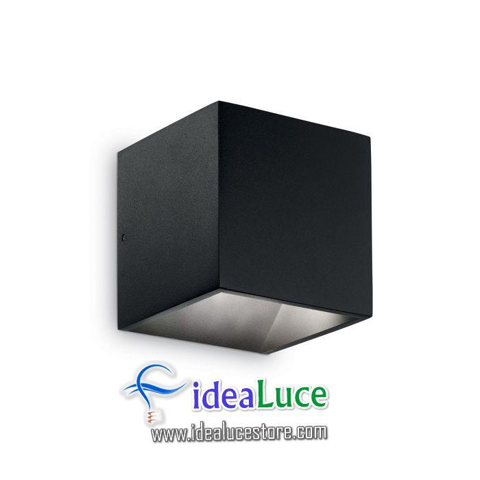 Lampada da parete Applique Ideal Lux Rubik AP1 NERO 142302