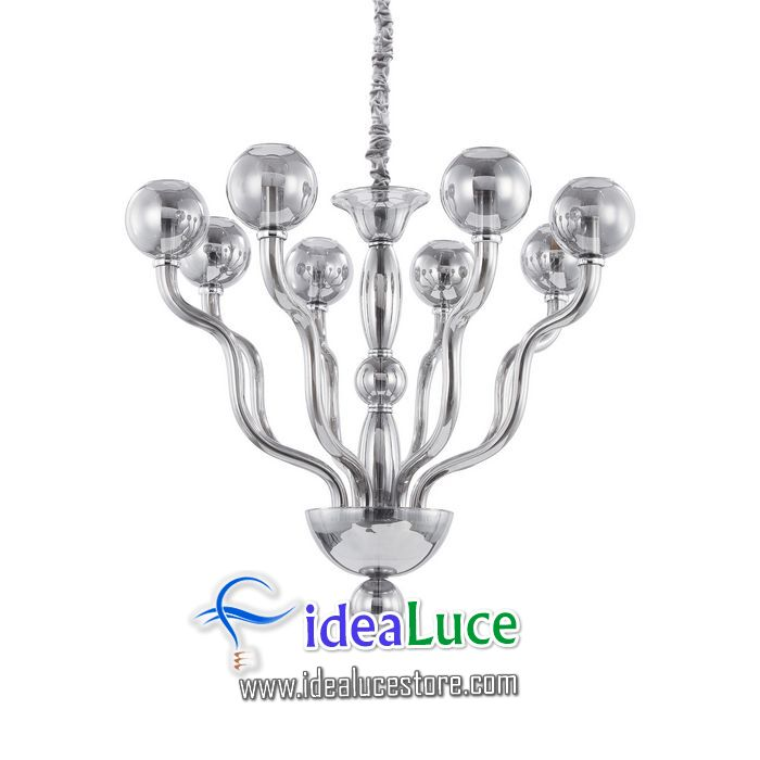 Lampadario sospensione Ideal Lux Nettuno SP8 FUME 144795