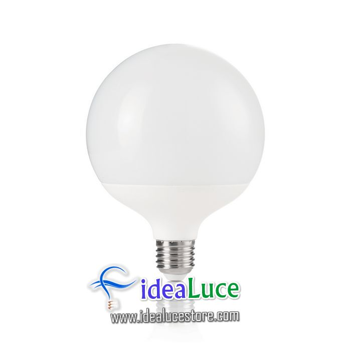 Confezione da 10 Lampadine Led Ideal Lux POWER E27 15W GLOBO BIG 3000K 151786