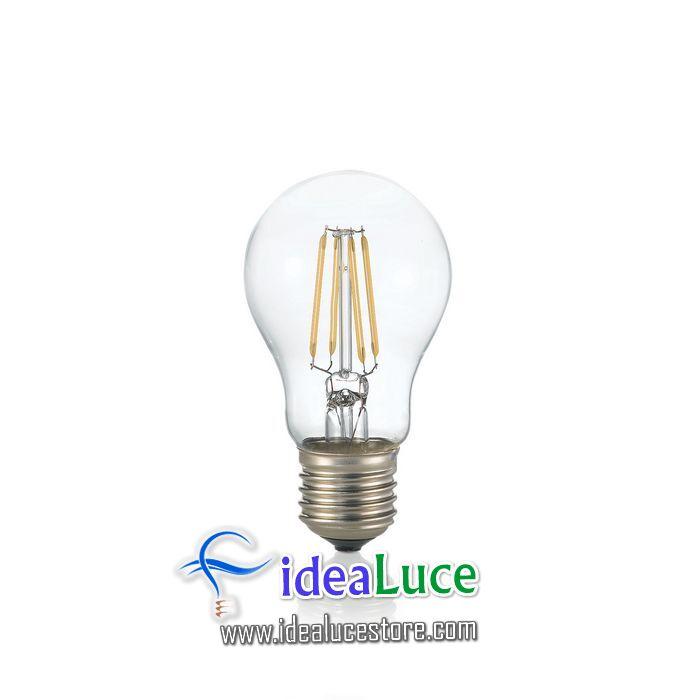 Confezione da 10 Lampadine Led Ideal Lux CLASSIC E27 8W GOCCIA TRASP 4000K  153964