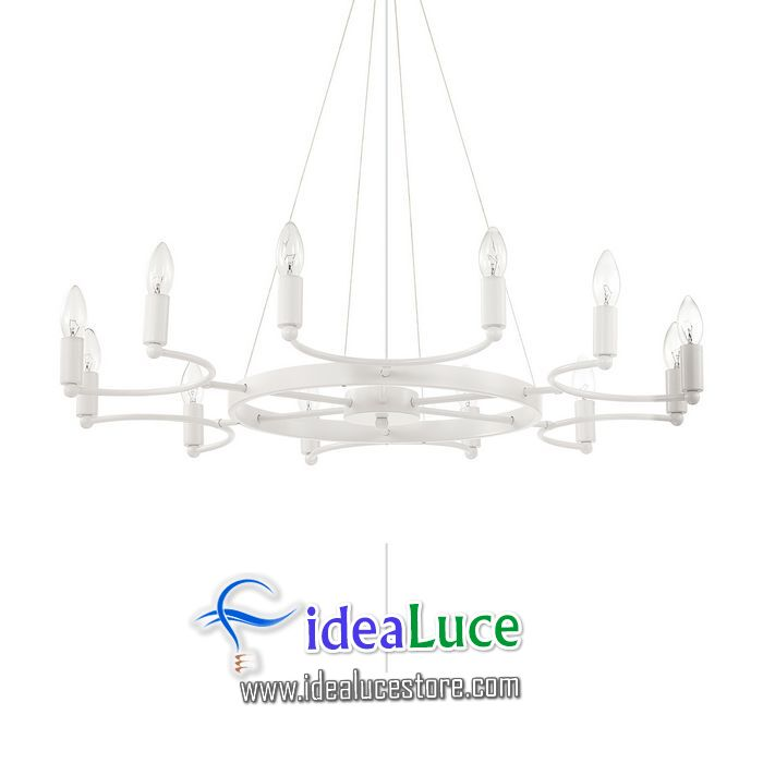 Lampadario sospensione Ideal Lux Space SP12 BIANCO 165080