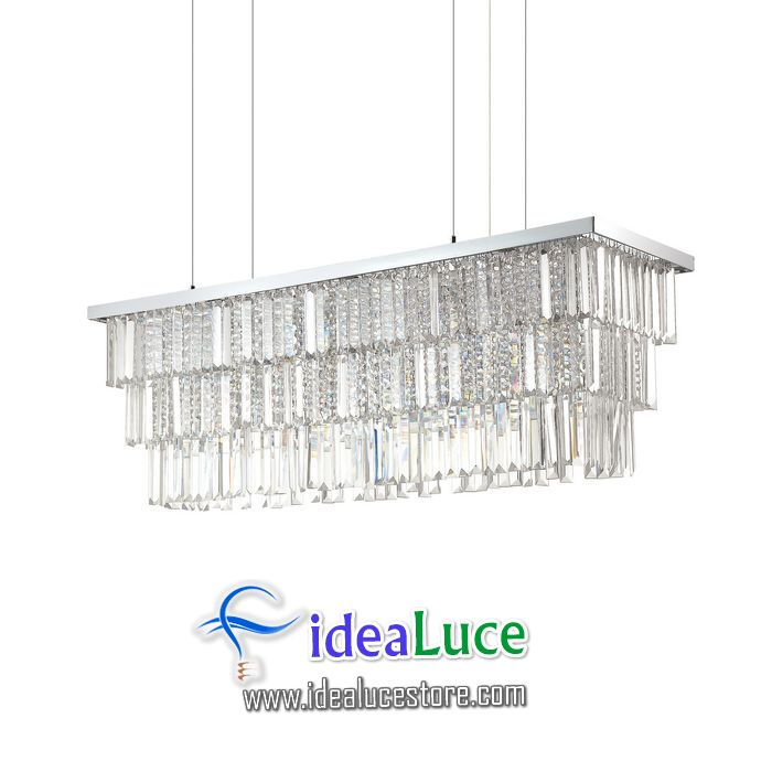 Lampadario sospensione Ideal Lux Martinez SP8 166360