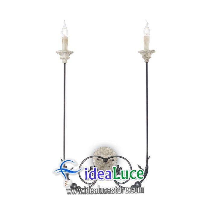 Lampada da parete Applique Ideal Lux Volterra AP2 166421