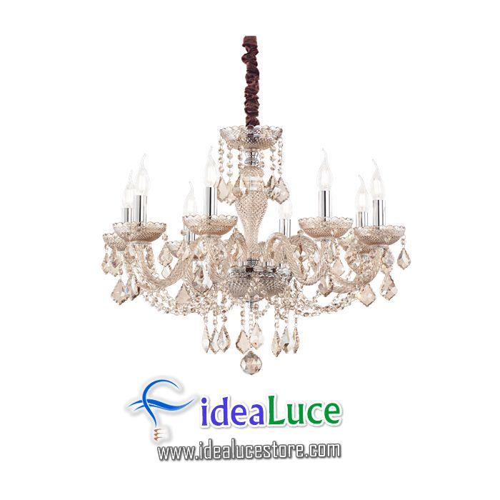 Lampadario sospensione Ideal Lux Rose Sp8 166889